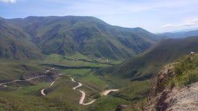 Valle e luna dell'Argentina del Salta di Cachi fotografia stock libera da diritti