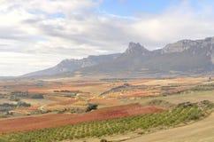 Valle e montagna Immagine Stock Libera da Diritti