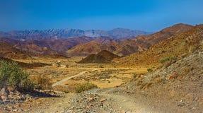 Valle e montagne del deserto nel parco nazionale di Richtersveld Fotografia Stock