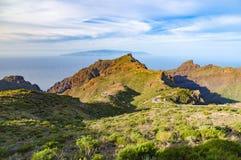 Valle e montagne di Masca, Tenerife fotografie stock libere da diritti