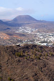 Valle e montagne su Lanzarote Fotografia Stock Libera da Diritti