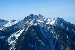 Valle e montagne Wagrain e Alpendorf vicini Fotografie Stock Libere da Diritti