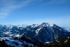 Valle e montagne Wagrain e Alpendorf vicini Fotografia Stock Libera da Diritti