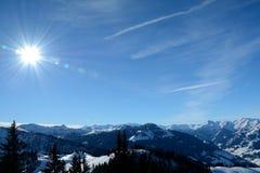Valle e montagne Wagrain e Alpendorf vicini Immagine Stock Libera da Diritti
