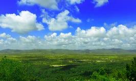 Valle e nuvola della montagna Immagine Stock Libera da Diritti