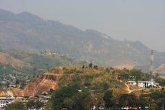 Valle e villaggi Fotografia Stock