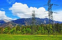 Valle elettrica Austria della montagna delle alpi dei pali Immagini Stock Libere da Diritti