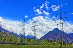 Valle elettrica Austria della montagna delle alpi dei pali Fotografia Stock Libera da Diritti