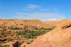 Valle en Ait Benhaddou, Marruecos Fotografía de archivo libre de regalías