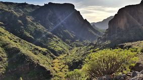 Valle en el sol Fotos de archivo libres de regalías