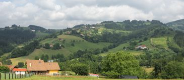 Valle en Garai Fotografía de archivo libre de regalías