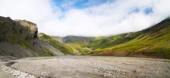 Valle en Islandia imagen de archivo libre de regalías