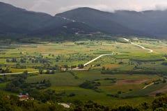Valle en la montaña Olympus en Grecia Fotografía de archivo libre de regalías