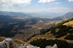 Valle en la región de Majella fotos de archivo