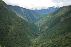 Valle en la región de Yungas, Bolivia Foto de archivo