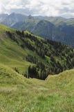 Valle en las dolomías Imagenes de archivo