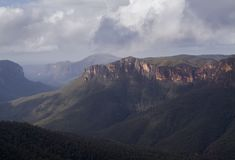 Valle en las montañas azules en NSW, Australia Fotografía de archivo libre de regalías