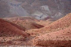 Valle en montañas de atlas, Marruecos del nómada Imágenes de archivo libres de regalías