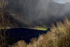 Valle en Noruega en tiempo cambiante Fotos de archivo libres de regalías