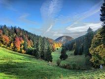 Valle en otoño foto de archivo libre de regalías
