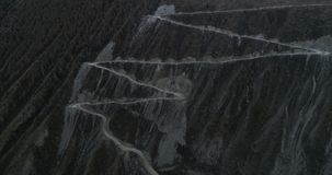 Valle en otoño, Altai, Rusia 2 de Chulyshmanskaya almacen de video