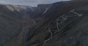 Valle en otoño, Altai, Rusia de Chulyshmanskaya almacen de video