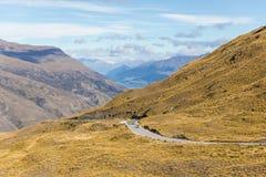 Valle escénico, Nueva Zelanda de Cardrona Foto de archivo libre de regalías