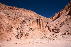 valle för chile de död lamuerte dal Royaltyfri Foto