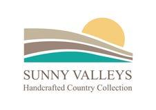 Valle, fiume e sole illustrazione di stock