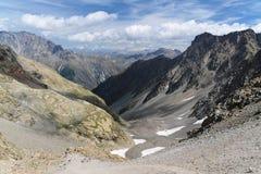 Valle francés de las montañas Imagen de archivo libre de regalías