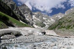 Valle francese delle alpi Immagini Stock