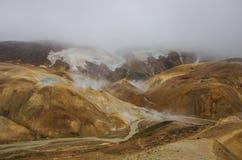 Valle geotermica Kerlingarfjoll Fotografia Stock Libera da Diritti