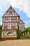 Valle Germania di Mosella: Casa armata in legno in Puenderich Fotografia Stock