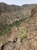 Valle Gran Rey από τα ύψη Στοκ φωτογραφία με δικαίωμα ελεύθερης χρήσης
