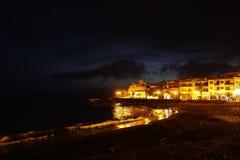 Valle Gran Rey bis zum Nacht Lizenzfreies Stockfoto