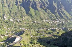 The Valle Gran Rey on Gomera Stock Photography