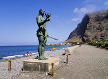 Valle Gran Rey on Gomera Stock Image