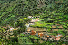 The Valle Gran Rey on the island La Gomera Royalty Free Stock Photos