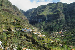 The Valle Gran Rey on the island La Gomera Stock Image