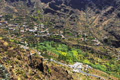 The Valle Gran Rey, La Gomera island. La Gomera island. The Valle Gran Rey, Canary, Spain royalty free stock photos