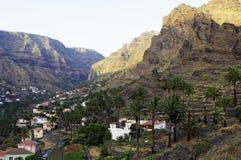 The Valle Gran Rey, La Gomera island. Stock Photos