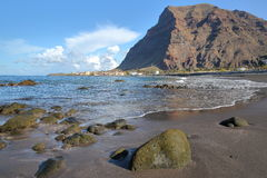 VALLE GRAN REY, LA GOMERA, SPAIN: La Playa beach in La Puntilla stock image