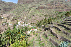 The Valle Gran Rey on La Gomera Stock Image