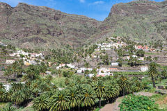The Valle Gran Rey on La Gomera Royalty Free Stock Photos