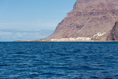 Valle Gran Rey seen from water side Stock Photography