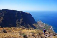 Valle Gran Rey vom La Merica Stockbilder