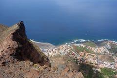 Valle Gran Rey von Hochebene Las Pilas Lizenzfreies Stockfoto