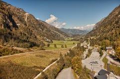 Valle grande cerca de Kaprun, Austria Imágenes de archivo libres de regalías