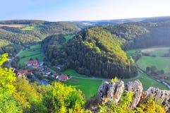 Valle grande de Lauter Imagen de archivo