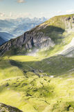 Valle hermoso de la montaña Imagenes de archivo